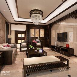 中式风格家装客厅吊顶效果图