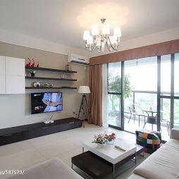 现代家装客厅吊顶装修效果图
