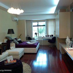 混搭风小户型卧室客厅设计效果图