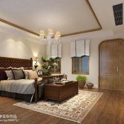 混搭时尚木制卧室门装修效果图