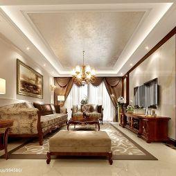 欧式家装客厅吊顶效果图