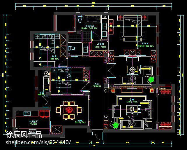 维科上院c区户型图_四居及以上装修案例_效果图 - 维科上院C区 - 设计本