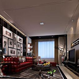 时尚现代风格 客厅吊顶效果图