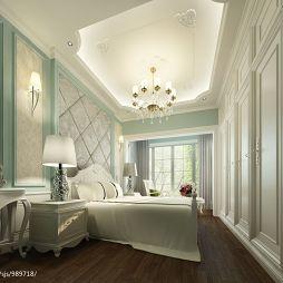 欧式卧室吊顶水晶吊灯装修效果图