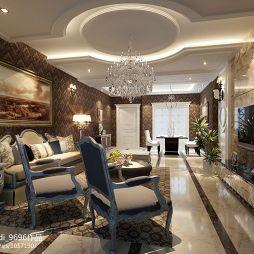 盛世草堂欧式客厅沙发背景墙图片