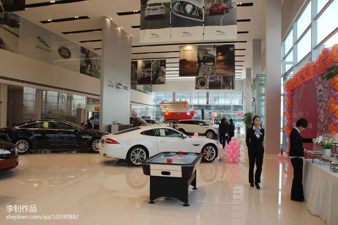 现代风格车行展厅吊顶图片