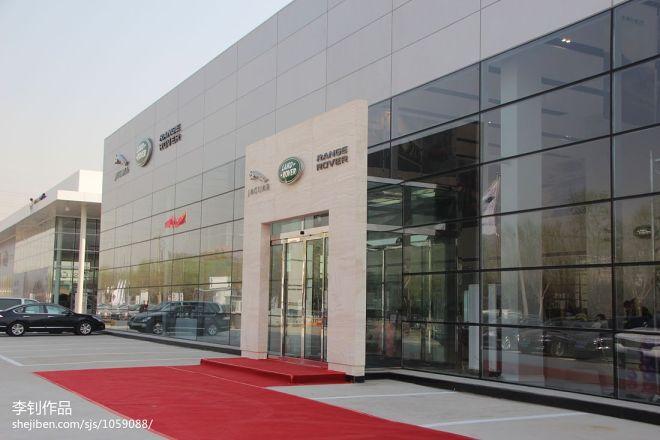 现代风格车行展厅外观效果图