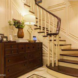 新古典楼梯扶手设计装修效果图
