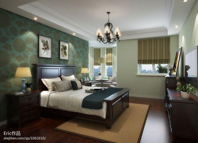 君悦半岛自由美式卧室效果图
