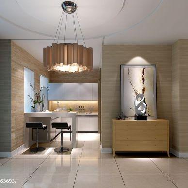 现代风格别墅设计厨房隔断装修图