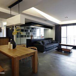 现代简约家居客厅吊顶效果图
