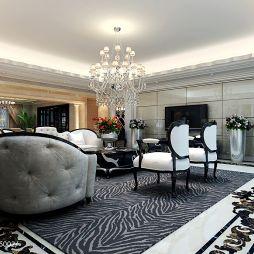 欧式客厅吊灯效果图片