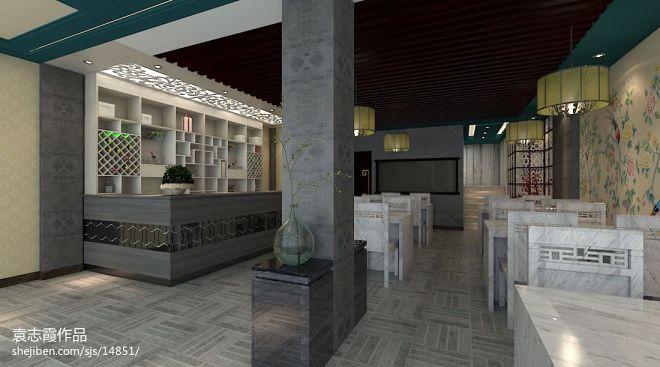 美式风格韩式餐厅效果图欣赏