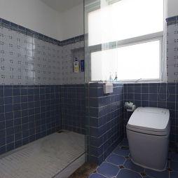 混搭风格室内卫生间隔断装修图