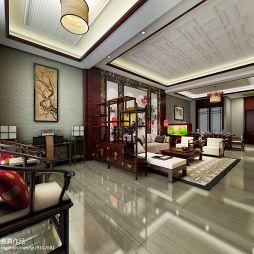 中式客厅隔断效果图片