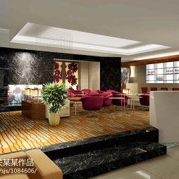 现代酒店宾馆休闲区装修效果图