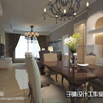 柔美欧式北京徜徉国际公寓设计_976669