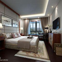 卧室挂画床头背景墙装修效果图