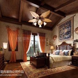 260平米别墅欧美卧室设计效果图
