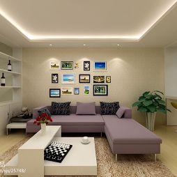 现代风格小客厅装修效果图片