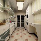 现代三居室厨房吊顶装修图