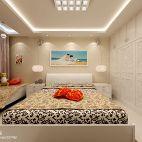 现代三居室卧室衣帽间装修图