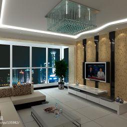 现代风客厅电视墙装修效果图片