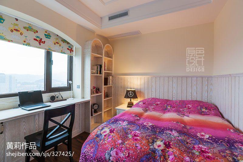卫生间实景_美式风格家居6平米儿童房装修设计效果图 – 设计本装修效果图