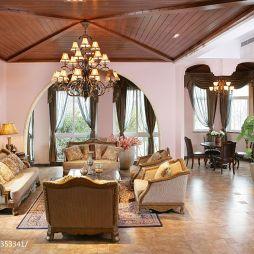 麒麟湾欧式客厅沙发背景效果图