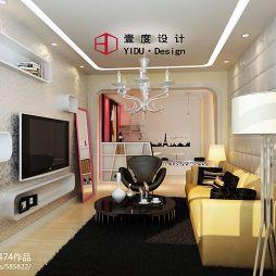 現代客廳電視墻效果圖