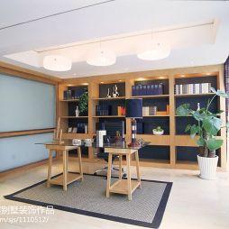 现代书房书柜书桌装修效果图