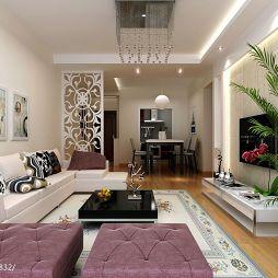 现代风格最新客厅装修效果图