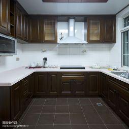 现代美式厨房整体橱柜图片