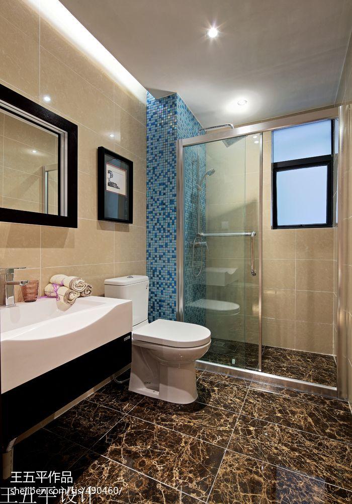 简欧风格卧室_样板房新中式风尚卫生间装修效果图 – 设计本装修效果图