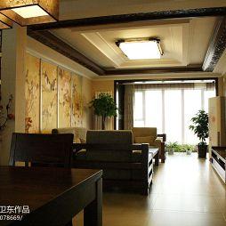 中式风格 客厅吊顶装修效果图