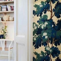 35平米碎花壁纸装修效果图