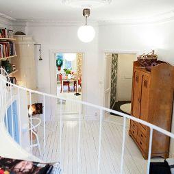 40平米白色木地板装修效果图
