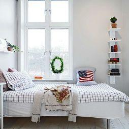 40平米小户型白色卧室装修效果图
