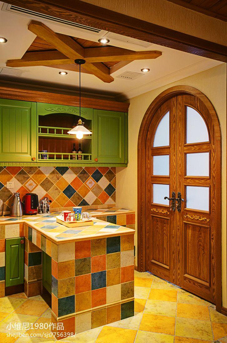 热门资讯_美式乡村风格厨房吊顶装修图片 – 设计本装修效果图