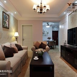 南环新村休闲美式客厅沙发效果图欣赏