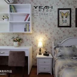 美式卧室写字台装修效果图