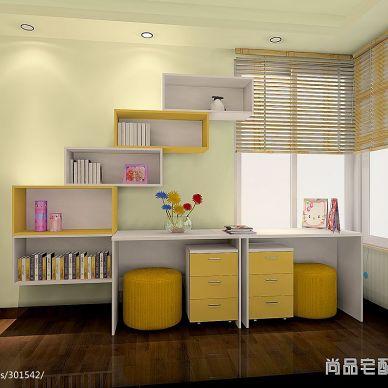 杭州市混搭儿童房兼书房装修设计效果图