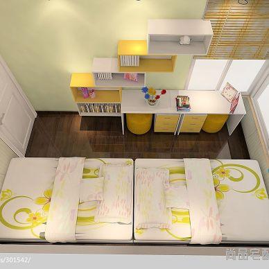 混搭儿童房兼书房装修设计效果图
