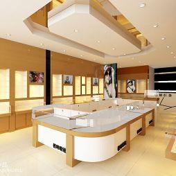 眼镜店木质展柜布置图片