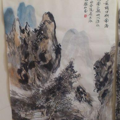 中式书画展厅设计图片