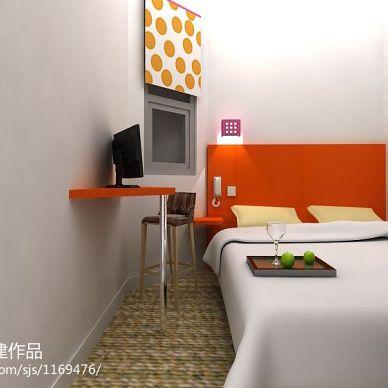 现代快捷酒店装修设计单间效果图