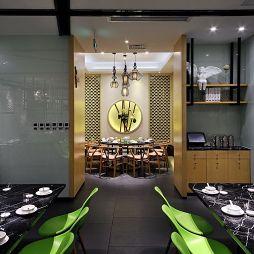 中式中餐馆隔断装修效果图大全