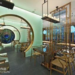 中式风格中餐厅装修效果图大全
