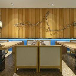 中式风格中餐厅卡座装修效果图