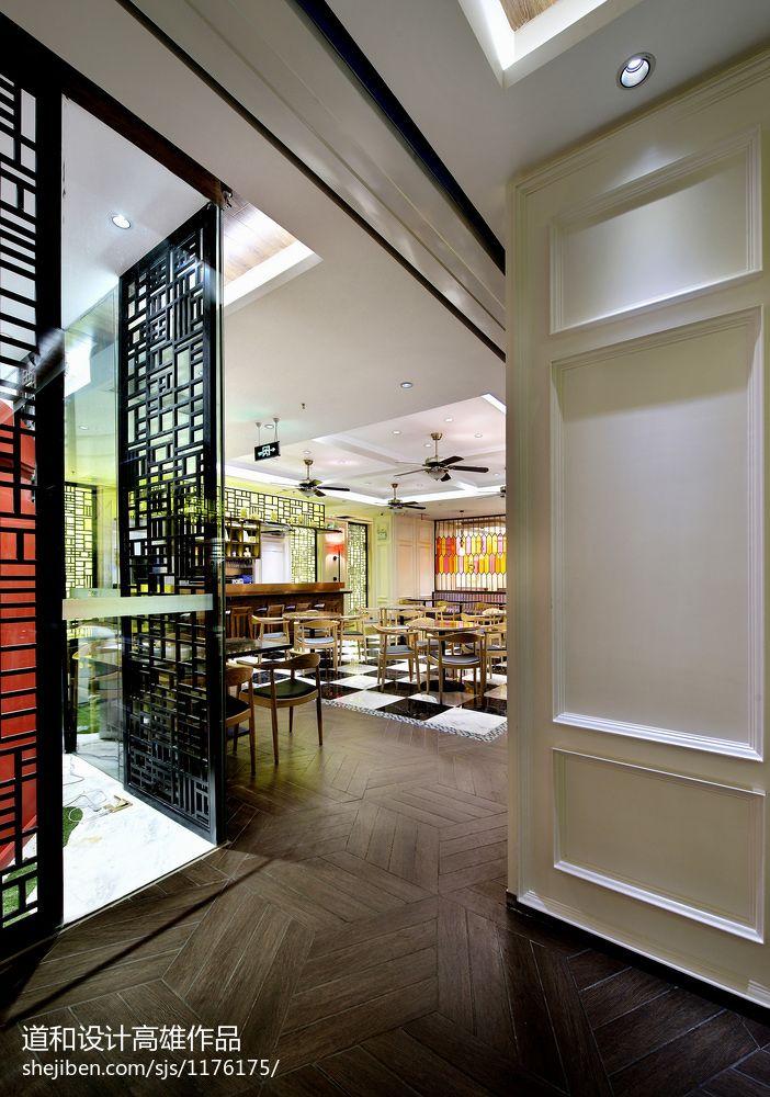 中式风格茶餐厅隔断装修效果图 – 设计本装修效果图